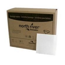 NAPKIN BEVERAGE WHITE 1 PLY 10X10 NORTH RIVER (4000)