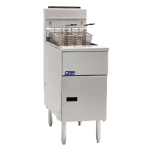 Pitco SE14 Solstice Fryer, electric, floor model, full frypot, 40 - 50 lb. oil capacity, solid state controls, melt cycle, boil out capacity, drain