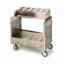 Lakeside 403 Tray & Silver Cart, accepts (10) flatware cylinders (not included), for (120) 16