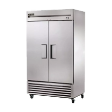 TRUE TS-43F-HC Freezer, Reach-in, two-section, -10F, (2) stainless steel doors, stainless steel front/sides, stainless steel interior, (6) white