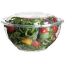 BOWL SALAD W/LID ROUND 32OZ COMPOSTABLE CLEAR (150/150)