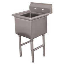 Advance Tabco FC-1-2424 Fabricated NSF Sink, 1-compartment, no drainboards, bowl size 24