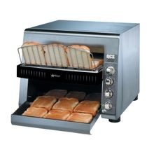 Star QCS3-1300 Star QCS Conveyor Toaster, electric, 1300 slices/hr., horizontal conveyor, analog speed control, standby switch, independent controls