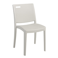 Grosfillex US356096 Metro Stacking Side Chair, resin back with hole cutout, resin seat and frame, designed for outdoor use, UV resistant