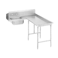 Advance Tabco DTS-G70-84R Island-Soil Dishtable, L-shaped, right-to-left, 10-1/2