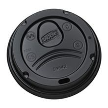 LID BLACK DOME 12 & 16 OZ PERFECT TOUCH (1000)