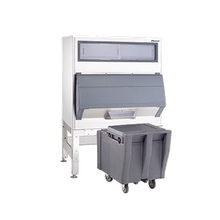 Follett DEV1175SG-48-ICS125 Ice-DevIce with Cambro ICS125L cart, chuted, elevated bin, 1185 lb. bin storage, for cube or Chewblet ice only, includes
