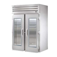 TRUE STG2RRI-2G SPEC SERIES Roll-in Refrigerator, two-section, stainless steel front, aluminum sides, (2) glass doors with locks, cam-lift hinges
