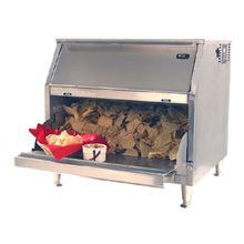 Carter-Hoffmann CW1 Bulk Chip Warmer, forced air heating system, inconel sheathed heating element, first-in first-out, gravity feed, top-loading, bottom