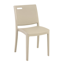 Grosfillex US356581 Metro Stacking Side Chair, resin back with hole cutout, resin seat and frame, designed for outdoor use, UV resistant