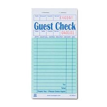 GUEST CHECK 100/BOOK 50BOOKS PER CASE