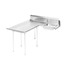 Advance Tabco DTS-D70-48L Dishlanding-Soil Dishtable, L-shaped with landing, left-to-right, 10-1/2
