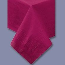 TABLECOVER 54X108 BURGUNDY POLY/TISSUE (25)