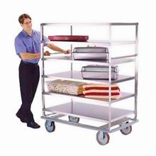 Lakeside 583 Tough Transport Banquet Cart, (4) shelf, shelf size 28