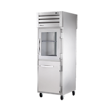 TRUE STR1RPT-1HG/1HS-1S-HC SPEC SERIES Pass-thru Refrigerator, one-section, stainless steel front & sides, (1) glass & (1) stainless steel half