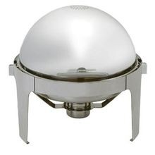 CHAFER ROLL TOP 6.5 QT ROUND ALL STAINLESS