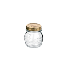 Quattro Stagioni Mini Mason Jars, with lid, 8-1/2 ounce capacity, set of 12, Bormioli Rocco