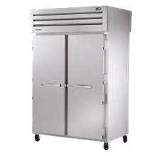 TRUE STA2RPT-2S-2S-HC SPEC SERIES Pass-thru Refrigerator, two-section, stainless steel front & sides, (2) stainless steel doors front & rear with