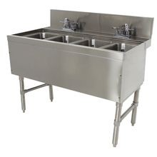 Advance Tabco PRB-24-44C Prestige Underbar Sink Unit, 4-compartment, 48