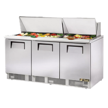 TRUE TFP-72-30M Sandwich/Salad Unit, three section, self-contained, (30) 1/6 size (4