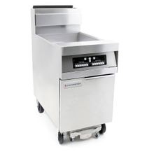 Frymaster CFHD160G Decathlon HD Series Fryer, gas, floor model, 80 lb. capacity, built-in filtration, tube-type design, automatic melt cycle