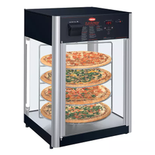 Hatco FDWD-2 Flav-R-Fresh Holding & Display Cabinet, pass-thru, counter model, (2) door, (4) tier interior revolving circular rack & motor, 1390W