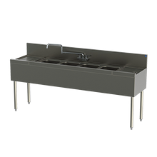 Perlick TSD64C TSD Series Underbar Sink Unit, four compartment, 72