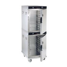 Cres Cor H-339-214C Cabinet, Mobile Heated, stacked, insulated, channel pan slides, capacity (16) 18