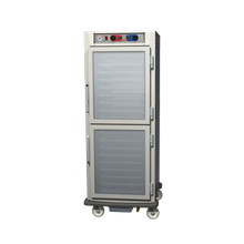 Metro C599-SDC-LPDC C5 9 Series Controlled Humidity Heated Holding & Proofing Cabinet, mobile, full height, pass thru (2) glass Dutch doors, lip