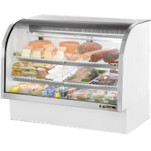 TRUE TCGG-60-LD Curved Glass Deli Case, 60-1/4