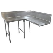 Advance Tabco DTC-K70-84L Korner Clean Dishtable, L-shaped, right-to-left, 10-1/2