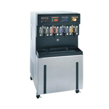 Taylor 349 Frozen Carbonated Beverage Freezer, floor model, self-contained, four flavor, (4) 7qt. freezing cylinders, electronic control, syrup