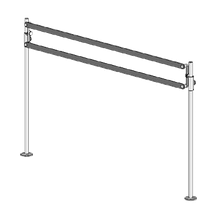 BSI ZS-PAR ZSpace, Post and Rail Sign System, includes (2) ZGuard Brackets, (2) 2