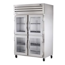 TRUE STG2H-4HG SPEC SERIES Reach-in Heated Cabinet, two-section, stainless steel front, aluminum sides, (4) glass half doors with locks, cam-lift