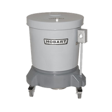 Hobart SDPE-11 Salad Dryer, floor model, 20-gallon capacity (approximately 16 heads of lettuce), 406 RPM, polyethylene outer tub & lid, polyethylene