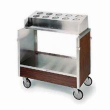 Lakeside 603 Tray & Silver Cart, accepts (10) flatware cylinders (not included), (120) 16