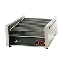 Star 75C Grill-Max Hot Dog Grill, roller-type, stadium seating, chrome-plated rollers, capacity 75 hot dogs, analog controls for front and rear