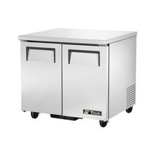 TRUE TUC-36-HC Undercounter Refrigerator, 33-38 F, (4) shelves, stainless steel top & sides, aluminum interior with stainless steel floor, (2)