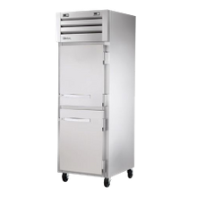 TRUE STA1F-2HS-HC SPEC SERIES Freezer, Reach-in, -10F, one-section, stainless steel front & sides, (2) stainless steel half doors with locks
