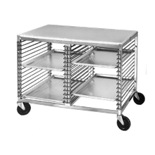 Channel 565/P Bun Pan Rack, Wire Slide, mobile, with work top, 42