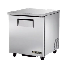 TRUE TUC-27-HC Undercounter Refrigerator, 33-38 F, Stainless Steel Top & Sides, (1) Stainless Steel Door, (2) Shelves, Clear Coated Aluminum