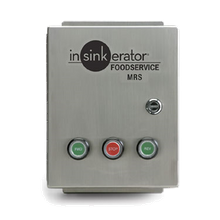 InSinkerator MRS-16 Control Center, MRS, manual (3) button FWD/STOP/REV switch, magnetic starter, for SS-50 to SS-1000 disposers, NEMA 4 stainless