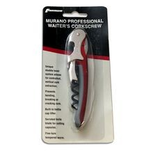 WINE OPENER CORKSCREW 4-5/8 RED MURANO