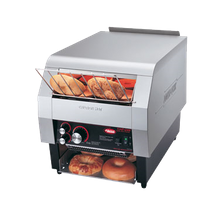 Hatco TQ-800BA Toast-Qwik Conveyor Toaster, horizontal conveyor, countertop design, toasts one side only, bagel and bun toaster, approximately 14