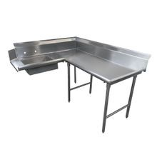 Advance Tabco DTS-K30-48R Korner-Soil Dishtable, L-shaped, right-to-left, 10-1/2