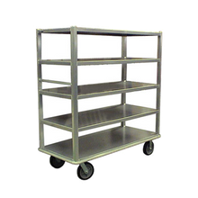 Carter-Hoffmann T724 Queen Mary China & Silver Transporter, open design, four shelves, shelf size 27