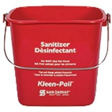 PAIL SANITIZING RED 3 QT