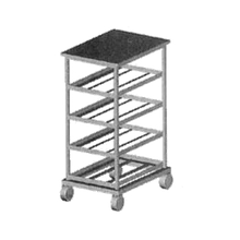 Eagle OCR-10-3A Panco Can Rack, half size, mobile design, self feeding gravity fed shelves, designed for (54) #10 or (72) #5 cans, aluminum welded