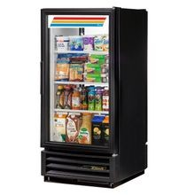 TRUE GDM-10PT-HC-LD Refrigerated Merchandiser, pass thru, one-section, (3) shelves, laminated vinyl exterior, white interior with stainless steel