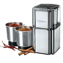 Waring WSG30 Professional Spice Grinder, electric, with 3 stainless steel grinding bowls and storage lids, stainless steel housing and blades